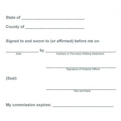 notary public affirmation elegant notarized document types of letter notary attestation template