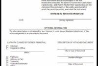 Sample Of A Notary Acknowledgement | Acknowledgment Sample Notary Acknowledgement Template