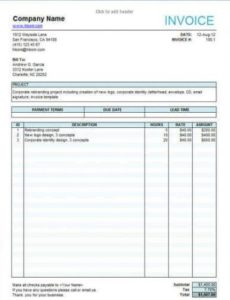 10 free freelance invoice templates [word / excel] media production invoice template