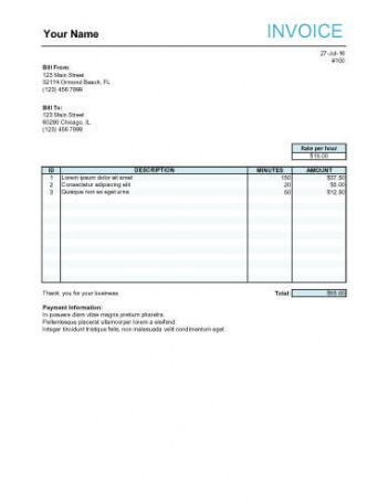 10 free freelance invoice templates [word / excel] post production invoice template