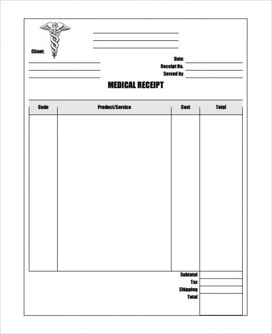17+ medical receipt templates - pdf, doc | free & premium templates physiotherapy invoice template