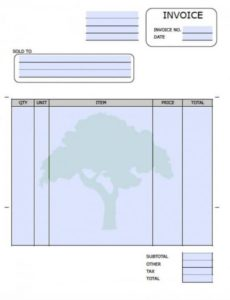 free landscaping (lawn care service) invoice template | excel | pdf tree service invoice template