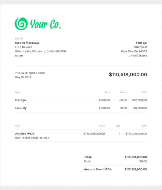 free video production invoice templates   zipbooks video production invoice template