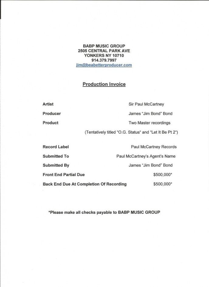 how to write a production invoice… – be a better producer music production invoice template