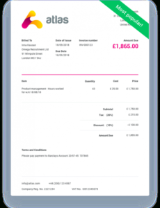 invoicetemplate.co staffing agency invoice template
