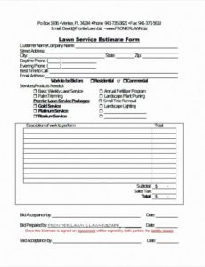 lawn service invoice template excel new tree service invoice tree service invoice template