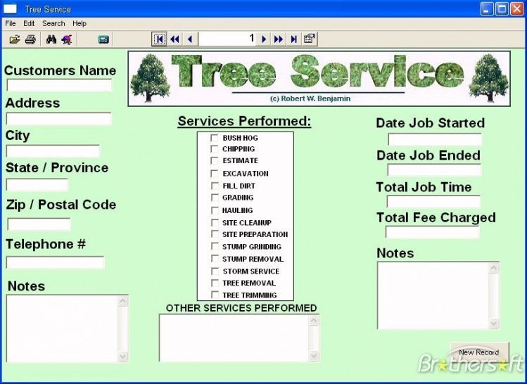 Tree Service Invoice Template