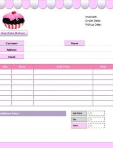7+ free cake invoice templates for bakery business - template sumo cake order invoice template