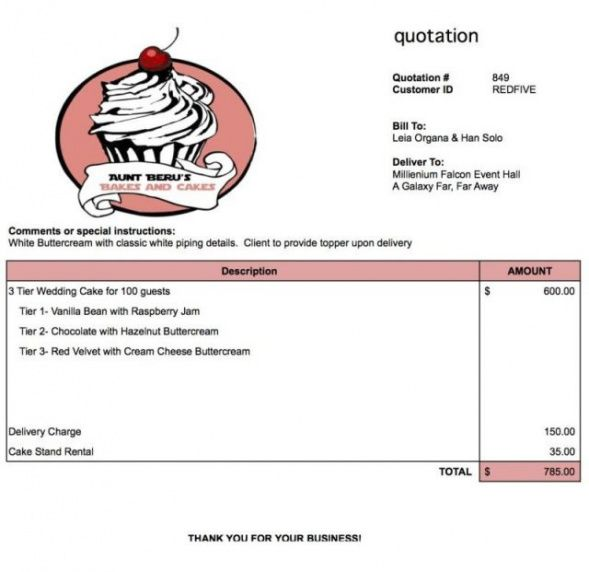 cake invoice template - bizoptimizer wedding cake invoice template