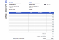 Cash Receipt Template | Free Download From Invoice Simple Balance Due Invoice Template