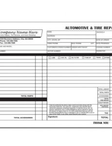 designsnprint tire shop invoice template
