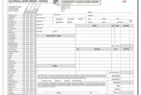 Electrical Contractor Forms – Custom Carbonless Orders | Designsnprint Electrical Work Order Invoice Template