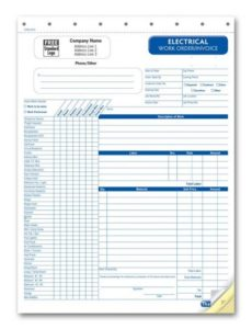 electrical work order invoice - forms and receipt printing electrical work order invoice template
