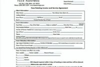 Face Painting Invoice And Service Agreement , Painting Invoice Face Painting Invoice Template