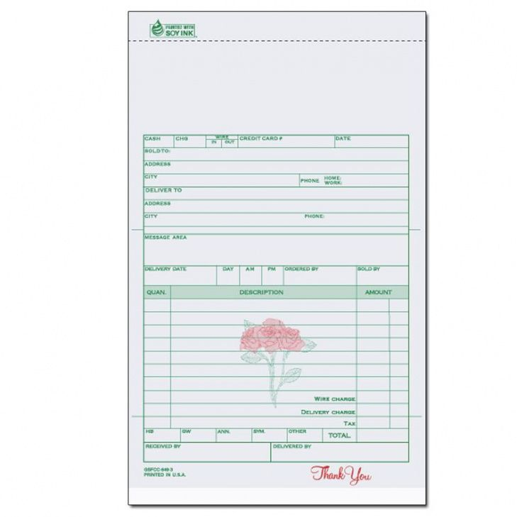 florists & flower shop invoices - receipts | designsnprint wedding flower invoice template