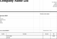 Free Downloadable Invoice Templates | Cloudaccountant.co.uk Limited Company Invoice Template