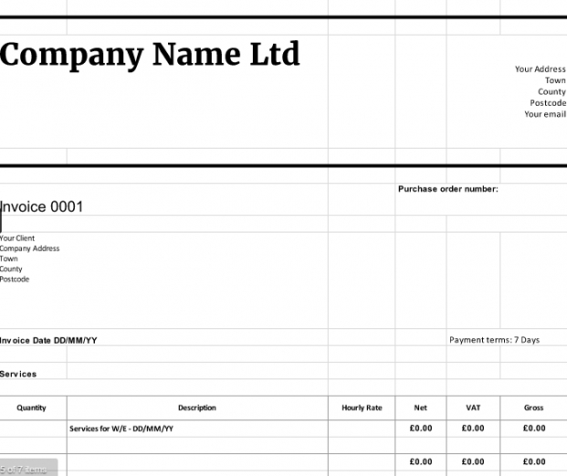 Free Downloadable Invoice Templates Cloudaccountant Limited