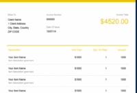 Free Rent Invoice Template | Freshbooks Rent Due Invoice Template