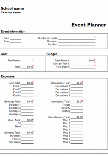 microsoft excel event planner template | office templates event planner invoice template