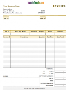past due invoice template balance due invoice template