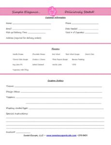 payment invoice sample and cake order form templates free cupcakes cake order invoice template