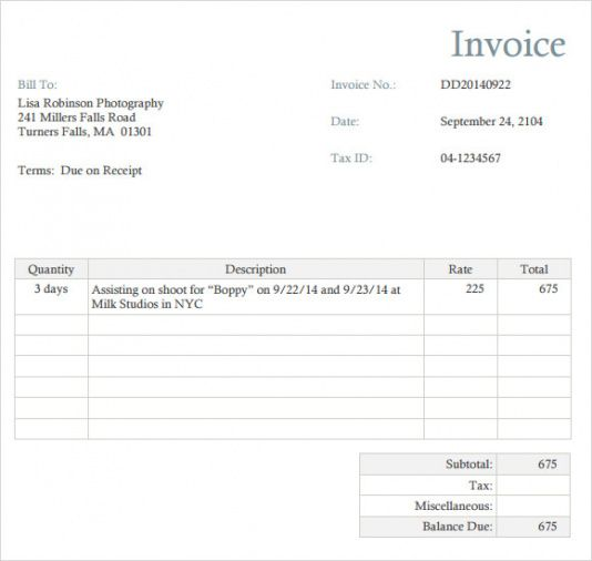 photographer invoice template - narco.penantly.co wedding photography invoice template