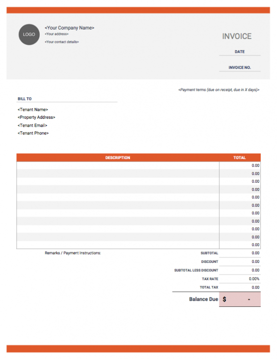 rental invoice template | free download from invoice simple rent due invoice template
