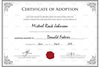 14+ Adoption Certificate Templates | Proto Politics Animal Adoption Certificate Template