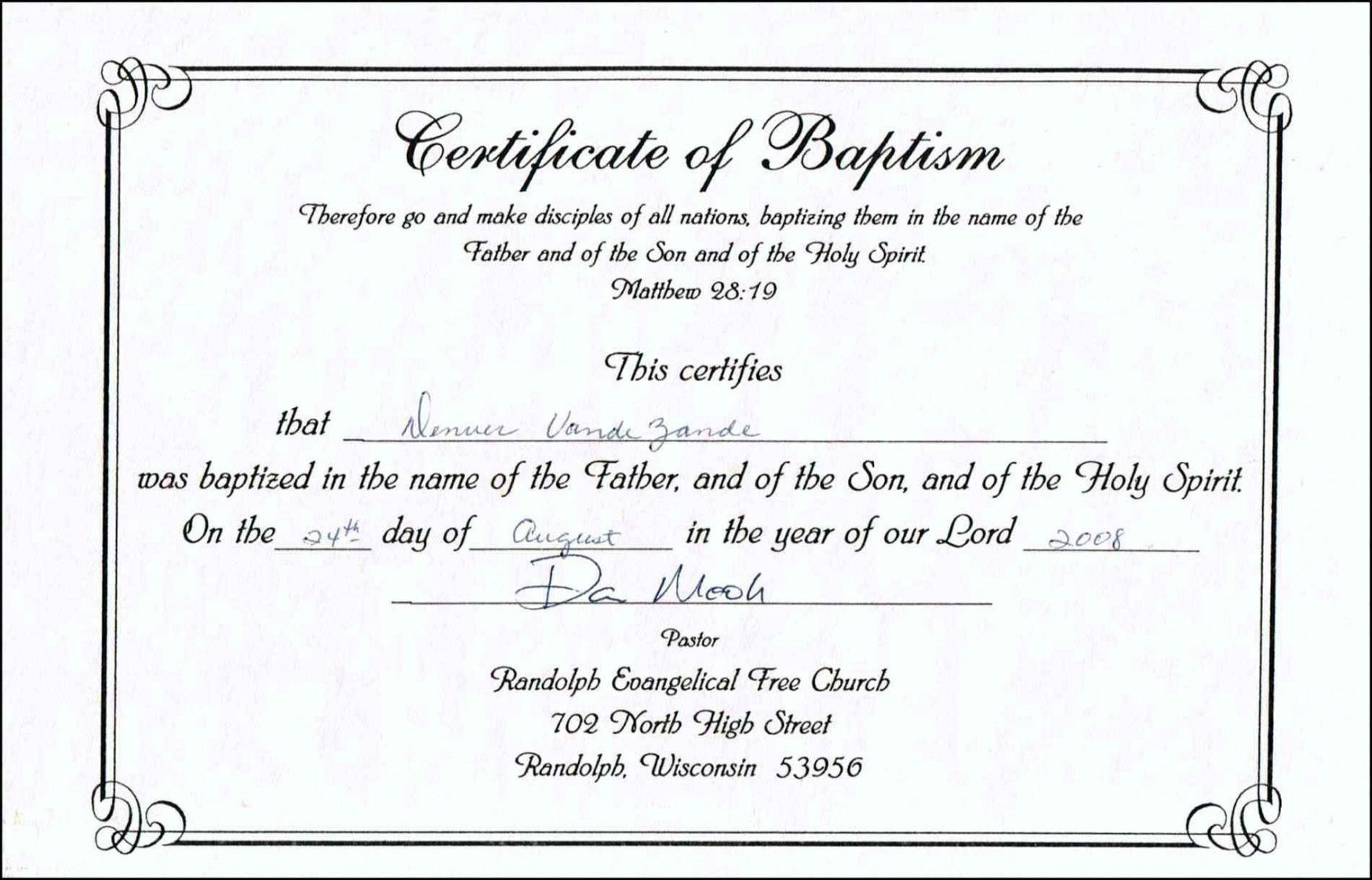 baptism certificate template catholic word free professional in roman catholic baptism certificate template sample