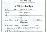 catholic baptism certificate - yahoo image search results | free roman catholic baptism certificate template sample