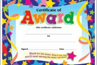 Certificate Template For Kids Free Certificate Templates Star Student Certificate Template  Blank