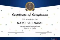 Editable 40 Fantastic Certificate Of Completion Templates [Word, Powerpoint] Sunday School Graduation Certificate Template PDF