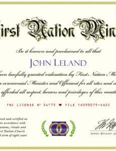 editable certificate of ministry license template pastor license certificate template pdf blank
