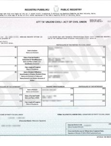 editable ċertifikati.gov.mt - certificate samples civil union certificate template pdf