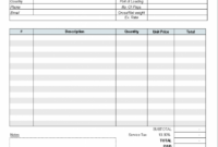 Editable Freight Invoice Template – Invoice Manager For Excel Trucking Company Invoice Template  Blank