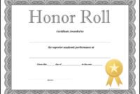 editable honor roll certificate template word | certificatetemplateword high school honor roll certificate template word