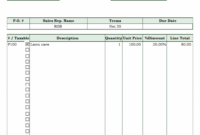 Editable Lawn Care Invoice Template Gardening Invoice Template PDF Blank