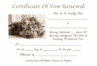 Editable Pin By Tia Hughes On Vowel Renewal | Traditional Wedding Vows Renewal Of Marriage Vows Certificate Template Sample