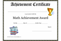 Editable Printable Math Achievement Award Printable Certificate Pdf Math Star Student Certificate Template PDF Blank