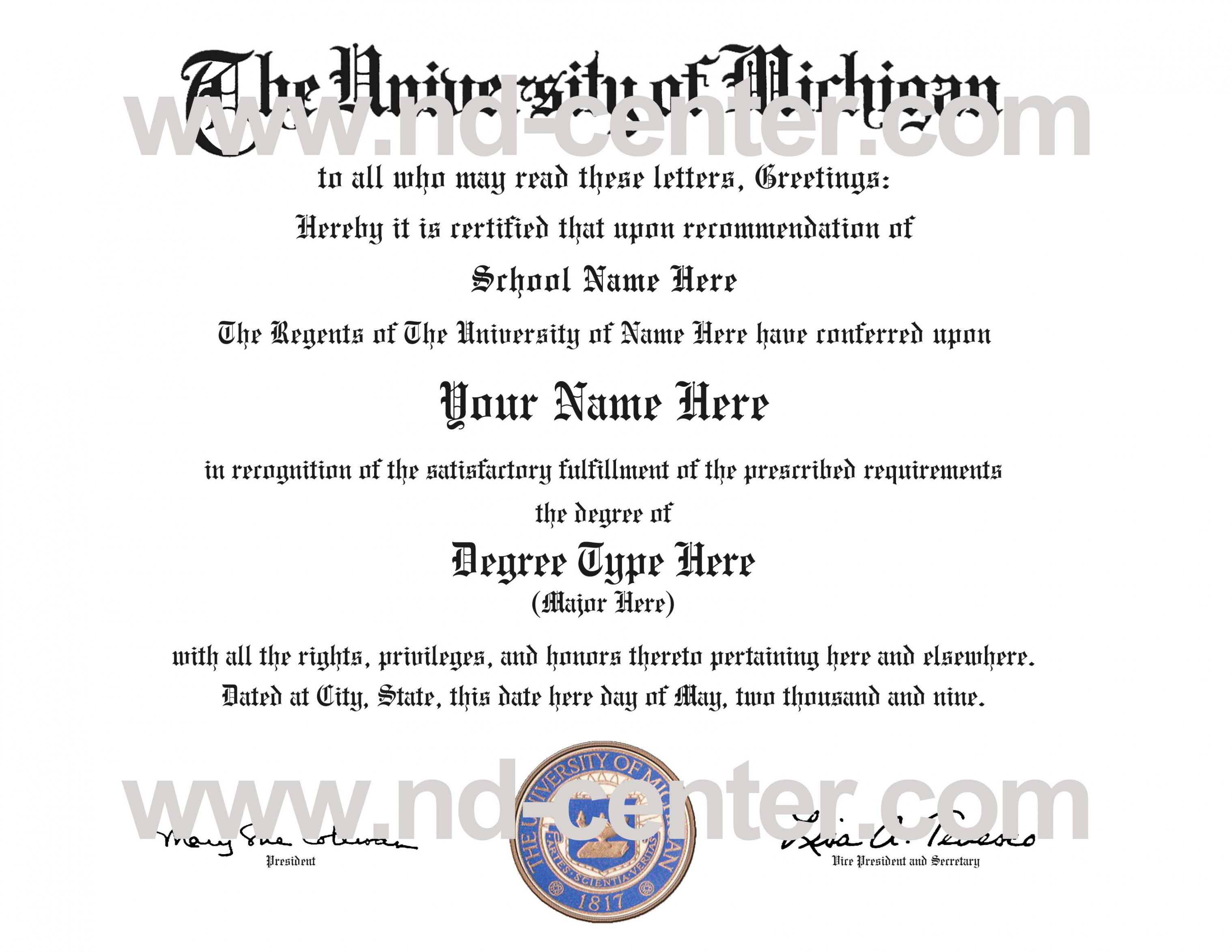 editable quality fake diploma samples college diploma certificate template sample