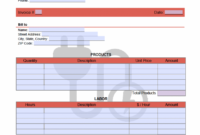 Electrical Service Invoice Template – Onlineinvoice Electrical Service Invoice Template PDF Blank