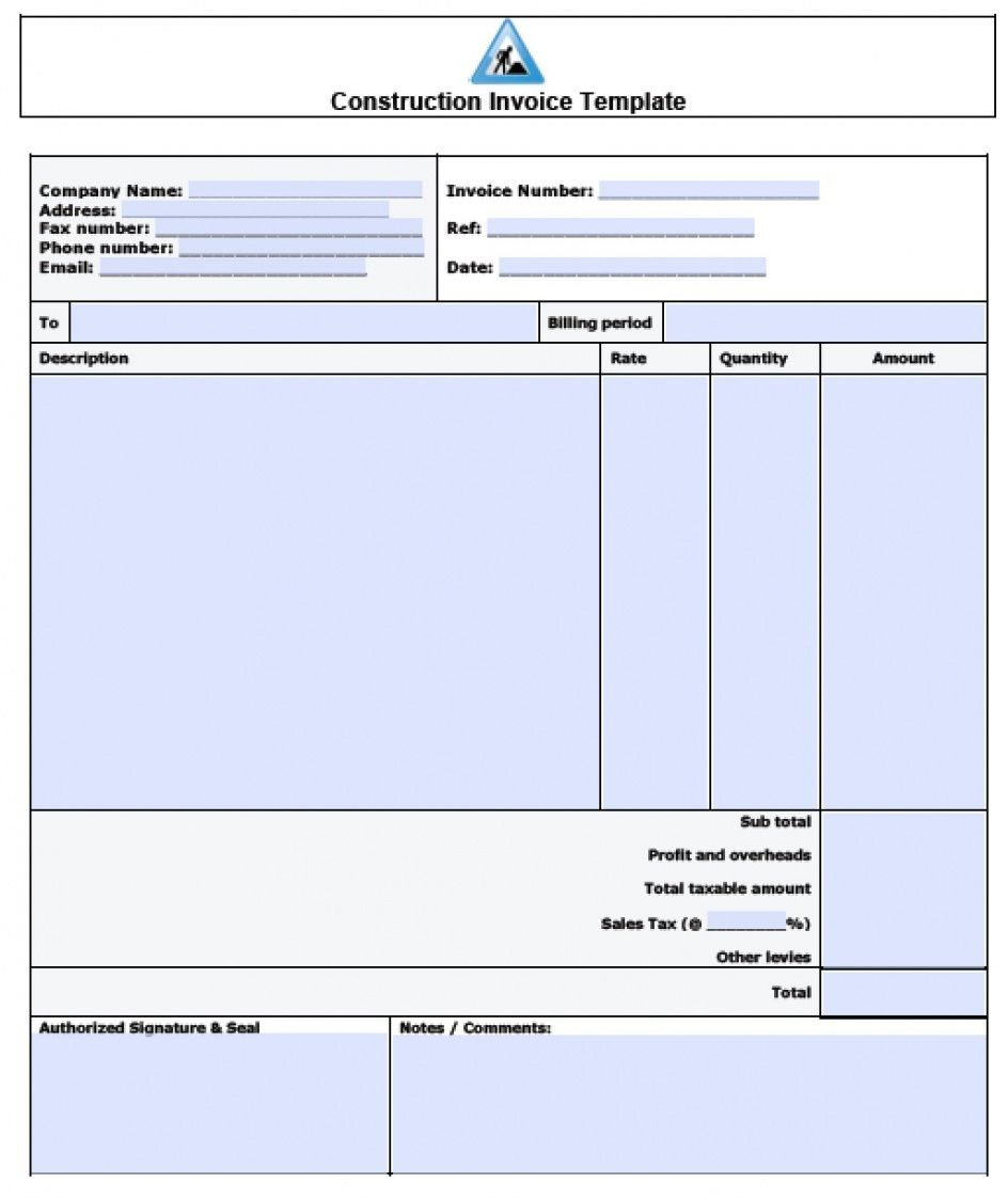 free 024 construction billing format free invoice template excel pdf word construction billing invoice template doc