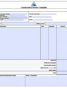 free construction company invoice template - koman.mouldings.co building contractor invoice template  blank