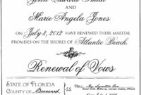 Free Florida Vow Renewal Certificates – Wedding Officiant Ft Lauderdale Fl Renewal Of Marriage Vows Certificate Template Word Blank