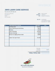 free free lawn care invoice template | papillon-northwan – lawn care lawn care service invoice template word