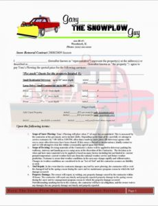 free free snow plowing contracts templates admirable 5 best of snow snow removal invoice template doc