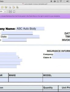 free how to make an auto repair invoice | excel | pdf | word - youtube car mechanic invoice template