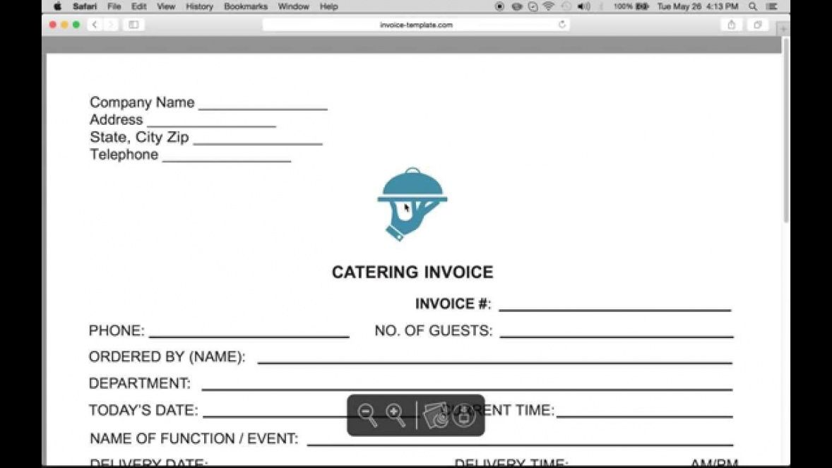 free make a catering (food) service invoice | pdf | word | excel - youtube food service company invoice template example