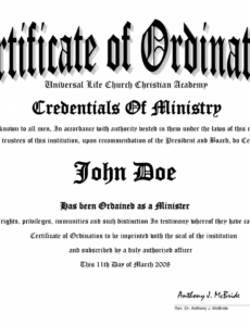 free printable minister license certificate template clean 10 best of pastor license certificate template pdf