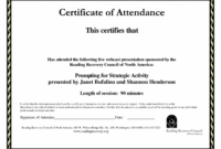Free Printable Perfect Attendance Certificate Template Word Certificate Certificate Of Perfect Attendance Template Doc Blank